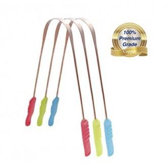 Meilleur Tongue Scraper, cuivre pur à 100% Élimine la mauvaise haleine au antimicrobien Source -Zero Stainless Steel- Dr. Approu