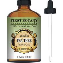 El aceite del árbol del té (Australia) 4 Fl.oz. con vidrio con gotero, en primer lugar cosmecéuticos Botánica. 100% pura y calid
