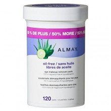 Almay Oil Free Eye Makeup Remover Pads, 120 Count