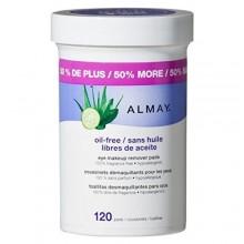 Almay Oil Free Eye Pads desmaquillador, 120 Conde