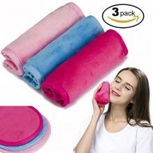 Desmaquillador de tela 3 Pack - Química gratuito, Mover el maquillaje de forma instantánea sólo con agua, toalla reutilizable li