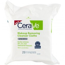 CeraVe Makeup Removing Cleanser Cloths, 25 Count