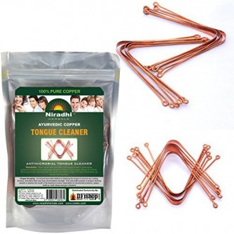 Ayurvédique Tongue Copper Cleaner / Scrapper (12 pièces) Par Niradhi Herbals