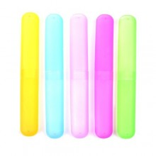 KLOUD City ® Pack of 5 Different Color Plastic Toothbrush Case/Holder for Travel Use (Style ONE)