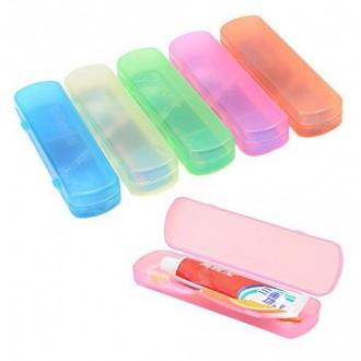 Elife Pack de 5 de gran tamaño de la caja de dientes titular de la pasta cepillo de dientes para el uso de viaje