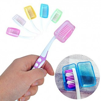 MassMall 5 Pcs Toothbrush Head Cover Case Cap Brush Cleaner Protect for Hiking Travel Camping