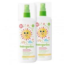 A base de minerales BabyGanics aerosol bebé protector solar, SPF 50, botella de spray 6 oz (paquete de 2)