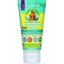 Badger Baby Sunscreen Cream - SPF 30 - All Natural & Certified Organic,2.9 fl.oz