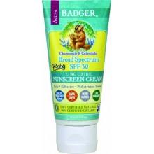 Badger bebé Protector Solar Crema - SPF 30 - All Natural y orgánico certificado, 2,9 fl.oz./