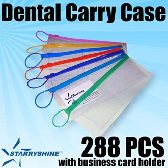 "Starryshine 288 PC Dental Carrying Case (Zip Lock Patient Pack 4""x10"") Assorted Color for Patients Toothbrush Case 