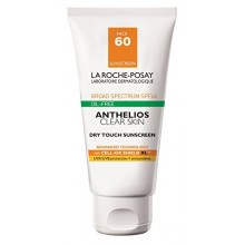 La Roche-Posay Anthelios Dry Touch Clear Skin Facial Sunscreen for Oily Skin with SPF 60, 1.7 Fl. Oz.
