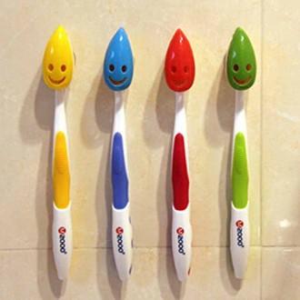 Caso de la cubierta protectora 4X Cepillo de dientes de dibujos animados cabeza de succión Copa Baño tubo antibacteriano por MMR