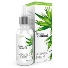 InstaNatural Vitamine C Sérum Acide Hyaluronique et Vit E - Natural & Organic Anti Wrinkle Eraser Formule pour le visage - D