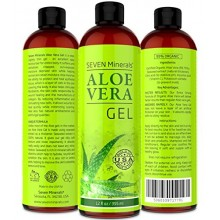 Aloe Vera GEL - 99% Organic, 12 oz - NO XANTHAN, so it Absorbs Rapidly with No Sticky Residue - SEE RESULTS OR MONEY-BACK
