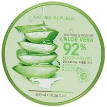 République Nature New Apaisant & Moisture Aloe Vera 92% Gel, 10,56 Fl Oz