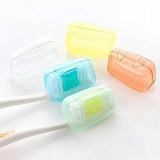 5 Las bacterias de color caramelo-PCS Familia Viajes cepillo de dientes (color al azar)