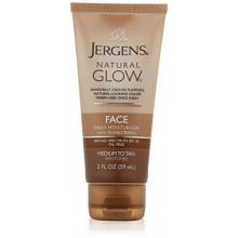 Jergens Natural Glow cutis saludable Daily Facial Humectante para el medio a Tan SPF, 2 onza