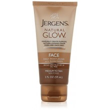 Jergens Natural Glow Healthy Complexion Daily Facial Moisturizer for Medium to Tan SPF, 2 Ounce