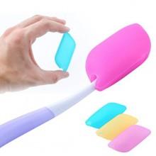 Pack de 6 - silicona cubierta protectora portátil de viaje Cepillo de dientes Jefe de caso - Mantener los gérmenes dañinos lejos