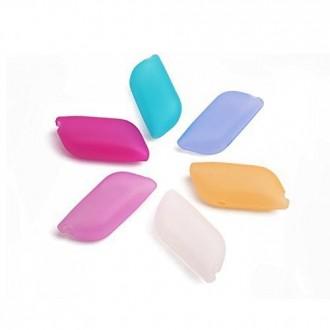 AMLGE Creative Toothbrush Colorful silicone Hygiène Anti-bactérien Cover Case Cap pour la maison et l'extérieur Paquet de 6
