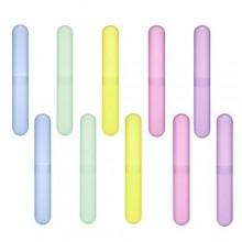 Amariver Pack de 10 clasifica plástico del color del cepillo de dientes Caso / soporte para el uso de viaje