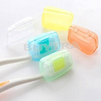 Cubierta de la cabeza de la tienda ensunpal NUEVO 5PCS Cepillo de dientes Cap Caso camping Brush Cleaner Proteger