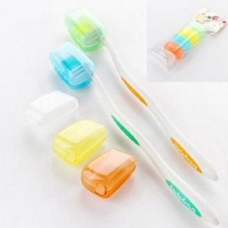 Sonline 5Pcs Voyage Portable Toothbrush Head Covers Housse de protection Prévention Molar