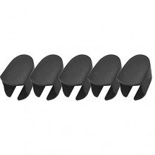 5 Pcs Outdoor Travel Use Plastic Makeup Brush Protective Cover Cap for Toothbrush Style Oval Head Shaped Makeup Brush Black