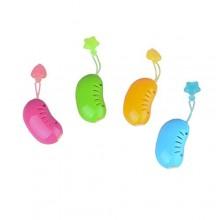 Flammi 4pcs cabeza hueca cubierta de la caja del cepillo de dientes del protector ABS limpiador diario para uso al aire libre y