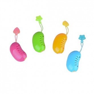 Flammi 4pcs ABS Toothbrush Head Cover Case Cap Cleaner Protector for Daily and Outdoor Travel Use