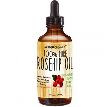 Molivera Organics huile de rose musquée 4 Fl Oz. 100% Pure Premium froide biologique pressée Graine Vierge Huile de Rose Musquée