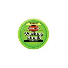O'Keeffe Manos de trabajo Crema de manos Tamaño Valor, 6,8 oz, Jar