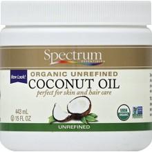 Espectro de elementos orgánicos esenciales aceite de coco, sin refinar, de 15 onzas