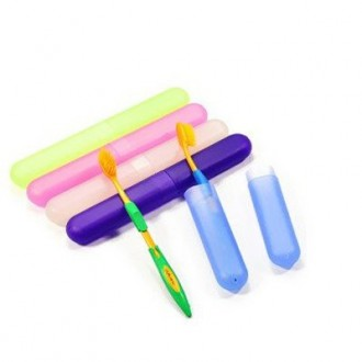 Top-ishop 3 Pieces Plastic Toothbrush Case/holder for Travel Use