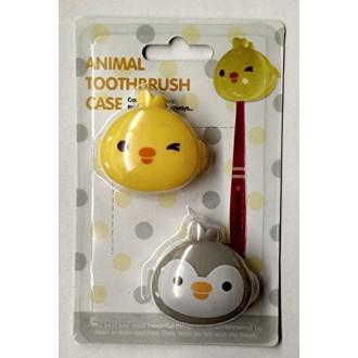 Morning Glory Animal Toothbrush Case (2 Pack) (Yellow/gray)