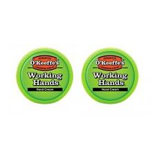O'Keeffe Manos de trabajo Crema de manos, 3,4 oz, tarro, (paquete de 2)