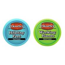 Manos de trabajo y pies sanos Combinación Pack de tarros de O'Keeffe