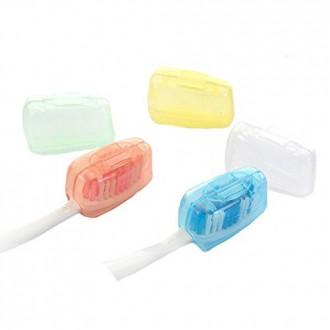 5PCS caso de la cubierta principal del cepillo de dientes de viaje tapas de las escobillas acampar al aire libre