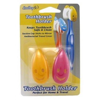 Smiley cepillo de dientes titular 2 Count (paquete de 6)