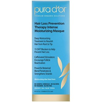 PURA D'OR Hair Loss Prevention Therapy Intense Moisturizing Masque, 12 Fluid Ounce