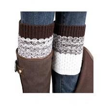 OVERMAL 2016 Jacquard Knitted Leg Warmers Socks Boot Cover