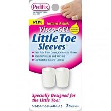 Visco Gel manga dedo pequeño del pie (paquete de 2)