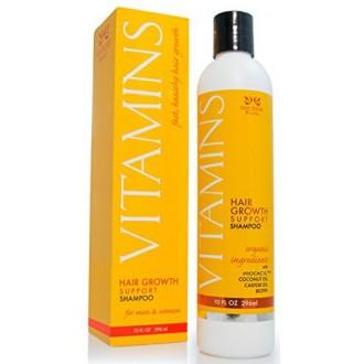 Vitamines perte de cheveux Shampoo - 121% Repousse et 47% Moins Dilution - Avec DHT Bloqueurs et biotine pour la croissance des