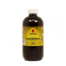 Tropic Isla de Jamaica Negro 8 oz Aceite de ricino con un aplicador, Venta grande !! - Packaing botella de PET Segura