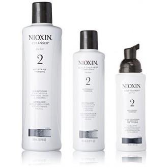 2 Starter Kit Sistema Nioxin Cleanser, Terapia del cuero cabelludo y el cuero cabelludo Tratamiento 1 juego (Limpiador 300 ml (1