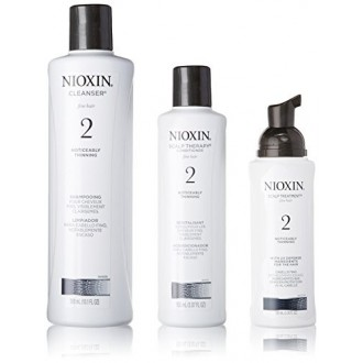 Nioxin System 2 Starter Kit Cleanser, Scalp Therapy & Scalp Treatment 1 set (Cleanser 300mL (10.1 FL OZ), Scalp Therapy 150