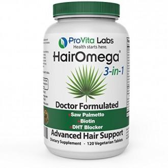 Dr. Formules Hairomega 3-in-1 DHT Blocker avec cheveux biotine, la peau et la croissance des ongles Support Formula