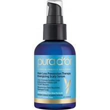PURA D'o caída del cabello Prevención Terapia Champú energizante, 4 onza líquida