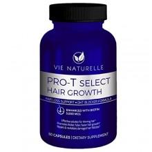 Pérdida del cabello Vitaminas Vie Naturelle Suplemento para el crecimiento del pelo rápido - píldoras bloqueador de DHT con biot