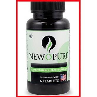 Newopure Natural Hair Growth Vitamins, 60 Tablets (30 Day Supply)